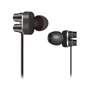 Hawk 鵰族 X570 低音砲 雙單體耳機麥克風-黑(福利品出清)