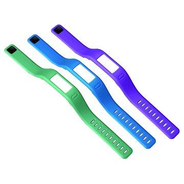 GARMIN  Vivofit 錶帶(小)紫/藍綠/藍(福利品出清)