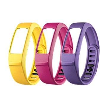 GARMIN vivofit2 替換腕帶(小)紫/粉紅/淡黃(福利品出清)