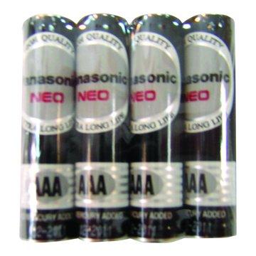 國際牌4號碳鋅電池 4入