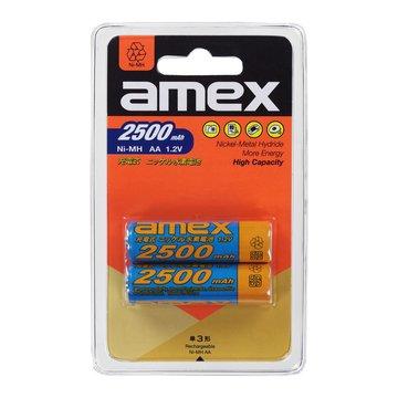 AMEX 3號鎳氫2500mAh 2入