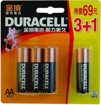 DURACELL 金頂 3號鹼性電池3+1入