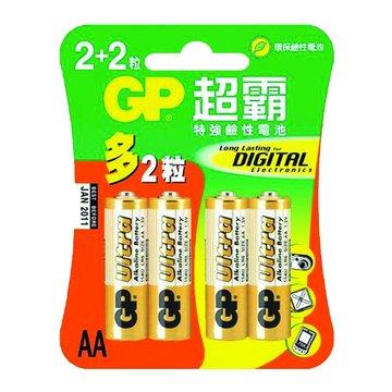 GP 鹼性電池3號2+2入