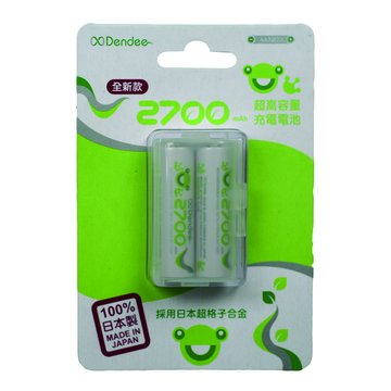 xDendee Fog 3號2700mAh*2充電電池