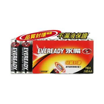EVEREADY 永備 永備碳鋅電池3號16入