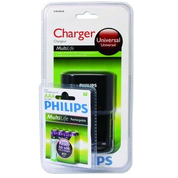 PHILIPS 飛利浦 4號低自放充電池4入+充電器