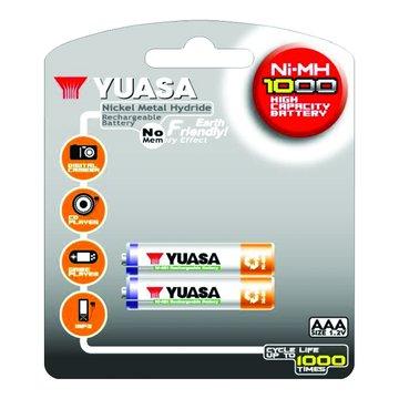 YUASA 4號1000mAh*2充電池