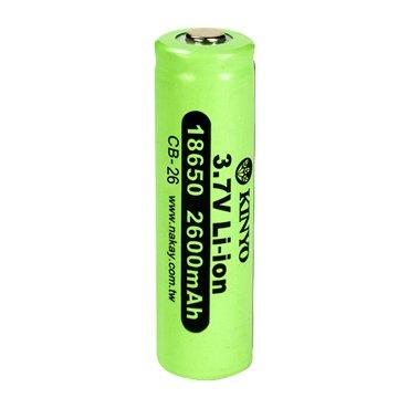 KINYO 18650鋰電池/2600mAh/1入
