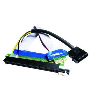 S.C.E 世淇 PCIE 1X轉16X +4P電源 延長線20CM