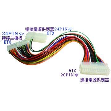 ATX轉BTX+BTX母雙電源啟動線