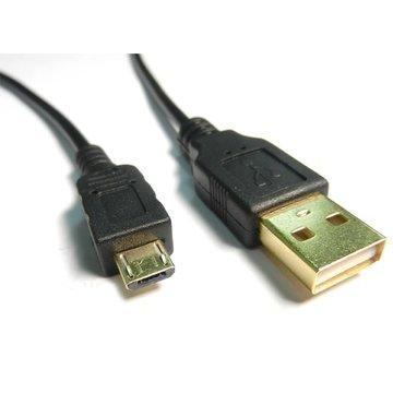 USB2.0 A公/Micro B公 15CM黑色鍍金線