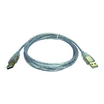 S.C.E 世淇 USB 2.0 A-A 鍍金透明線3M