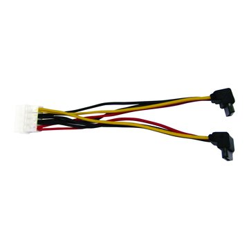 S.C.E 世淇 PW-50 SATA電源線1對2 90度