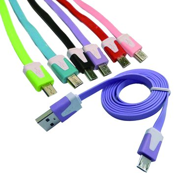 USB A公/Micro USB B公 1M彩色超薄寬麵條