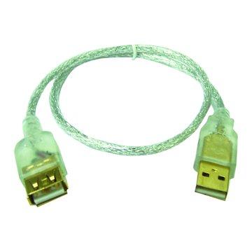 S.C.E 世淇 USB2.0 A公A母透明延長線 1.8M