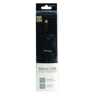 PowerSync 群加 USB2.0 A公/Micro USB 2M扁線