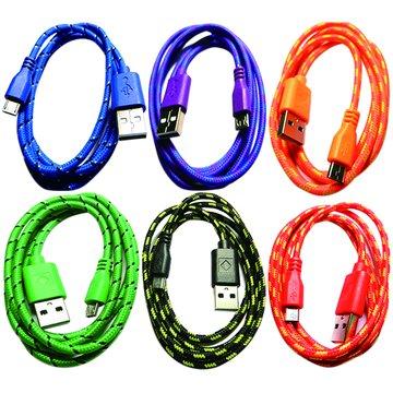 USB2.0 A公/Micro B 公 1M彩棉質線