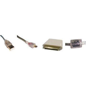 S.C.E 世淇 USB2.0A公/Micro B公+Apple充電兩用組50cm