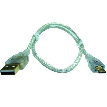 S.C.E 世淇 USB 2.0 A公/Micro B公 1.8M鍍金透明線