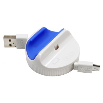 iCooby  USB A公/MicroUSB 藍色充電傳輸線