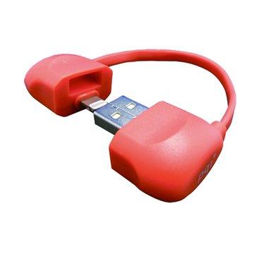 Lightning / USB i-Cable Bag 粉 10cm
