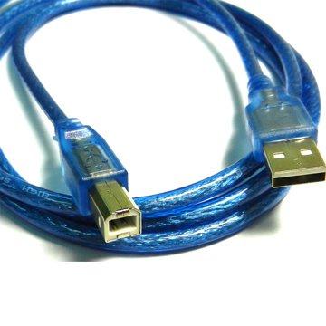 USB2.0 A公/A公 30cm透明藍