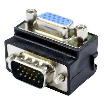 VGA 15PIN 公/母 90度轉接頭