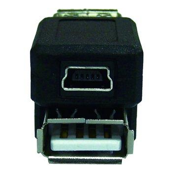 USB A母轉迷你5PIN母囀接頭