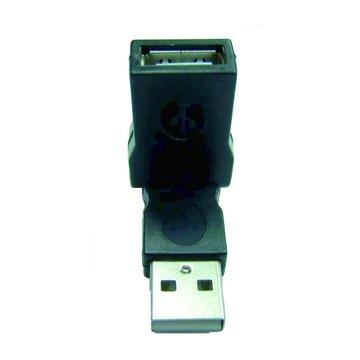 S.C.E 世淇 USB2.0 A公/A母 自由彎曲轉接頭