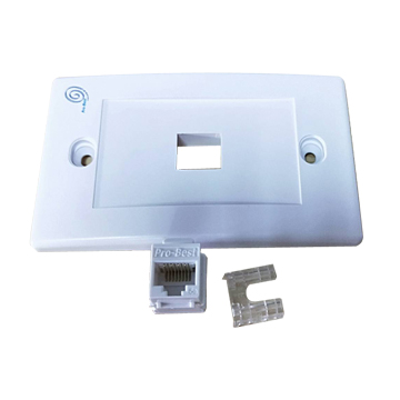 單孔面板+資訊插座(1入)