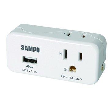 EP-UB2BU2 2插 2+3孔2A USB擴充座