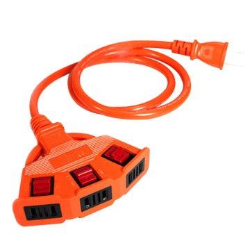 PowerSync 群加 2P安全鎖1擴3插延長線5M