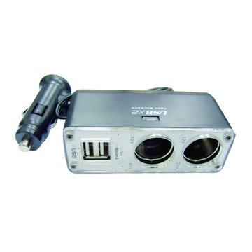 S.C.E 世淇 車用點煙器1分2+USBx2