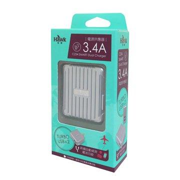 Hawk 鵰族 HTC234 SMART 3.4A 雙USB充電器