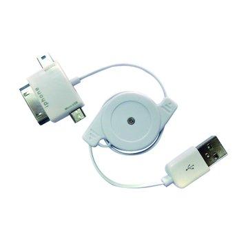 USB2.0A公/Mini 5Pin+Micro USB+30Pin