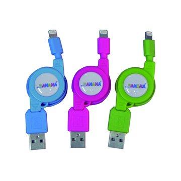 vision 創視 USB A公/Lightning 彩色充電傳輸捲線