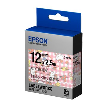 EPSON 愛普生 LC-4PBY (12mm)KITTY蘋果款標籤帶
