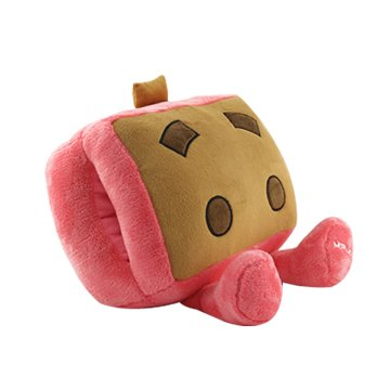 USB可愛卡通暖手寶抱枕-粉色