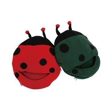 USB 可愛卡通 甲蟲暖腳寶-紅色