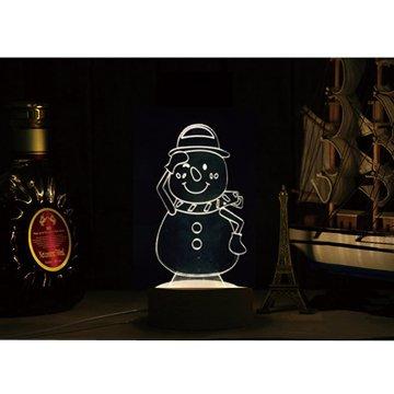 北歐3D立體USBLED創意小夜燈-雪人