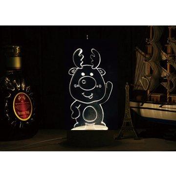 北歐3D立體USBLED創意小夜燈-Q版麋鹿