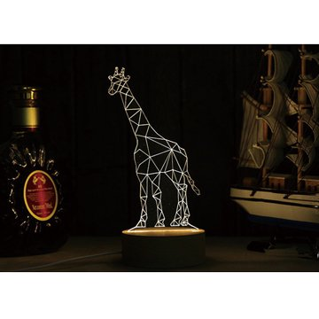 北歐3D立體USBLED創意小夜燈-長頸鹿