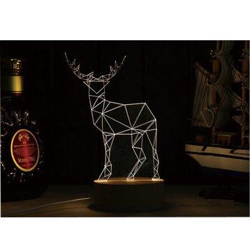 北歐3D立體USBLED創意小夜燈-麋鹿