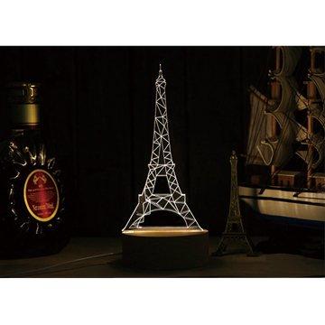 北歐3D立體USBLED創意小夜燈-鐵塔