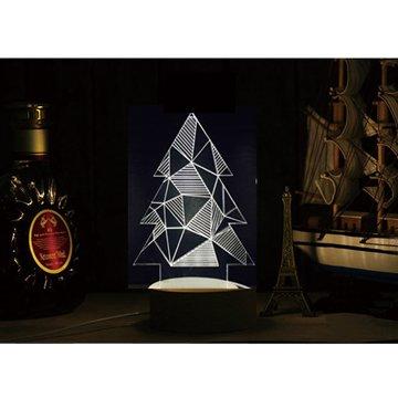 北歐3D立體USBLED創意小夜燈-幾何聖誕