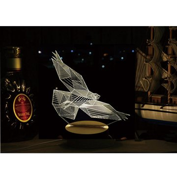 北歐3D立體USBLED創意小夜燈-老鷹