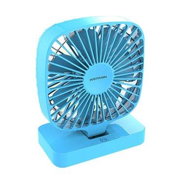 USB 便攜方形5吋風扇-藍