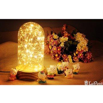 北歐3D立體USBLED創意火樹銀花夜燈-圓罩