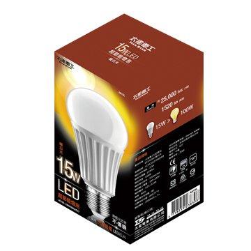A615L大廣角15W/E27/LED燈泡(暖白)