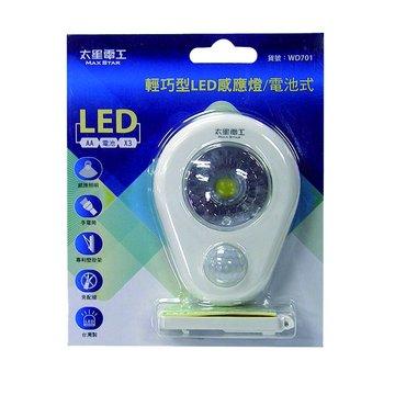 輕巧型WD701 LED感應燈/電池式(福利品出清)